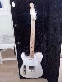 Left Handed Crafted In Japan White Ash telecaster