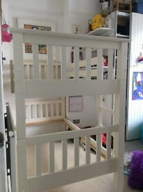 White framed Bunk Bed in very Good Condition