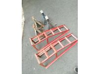 Car ramps & axil stands