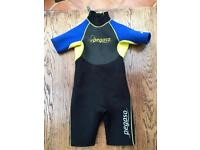 Kids shortie wetsuit aged 9-10
