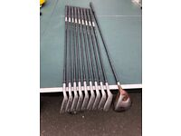 Lynx right handed carbon shafted golf clubs