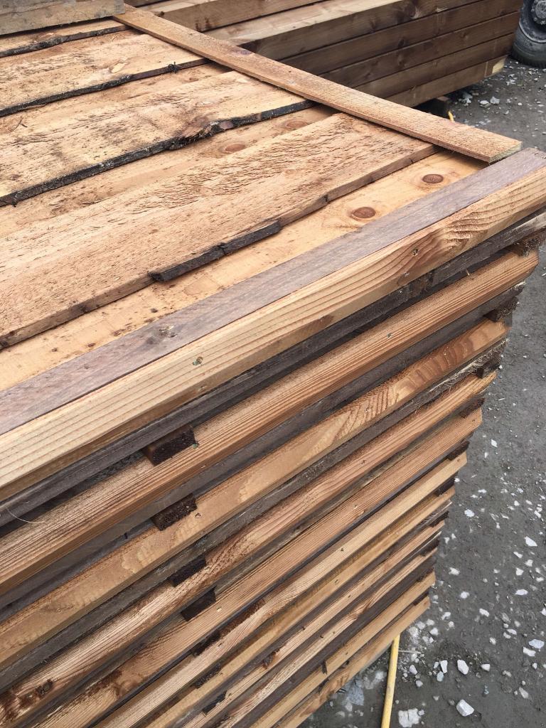 🌩Pressure Treated Brown Wayneylap Fence Panels ~ New