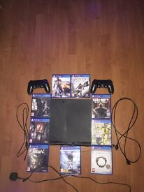 PS4 500GB Console & 9 Games Bundle, 2 Controllers,*! AMAZING XMAS GIFT!*