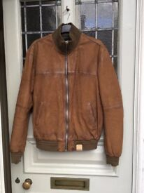 Brand New Scotch & Soda Leather Bomber Jacket