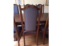 Nathan extendable dining table with 8 chairs MUST GO