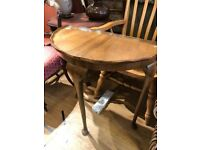 Half moon table , great for hallways . Size - W 75cm D 38cm H 75cm