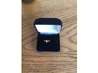 14 Carat Gold 1/4 Diamond Ring in size J 1/2