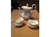 Howarth Royal Albert coffee pot, sugar bowl and cream jug