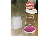 mother care baby high chair, bath mate , bath seat
