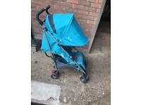 Silver cross blue stroller