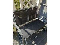 2 seater black mesh rocking bench Collection Weymouth