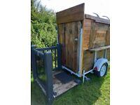 cute horsebox catering trailer
