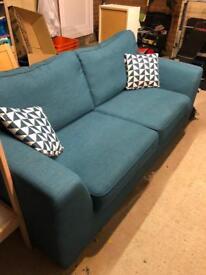 DFS fabric 2/3 seater sofa
