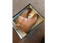 Women's brown leather asos boots size 6