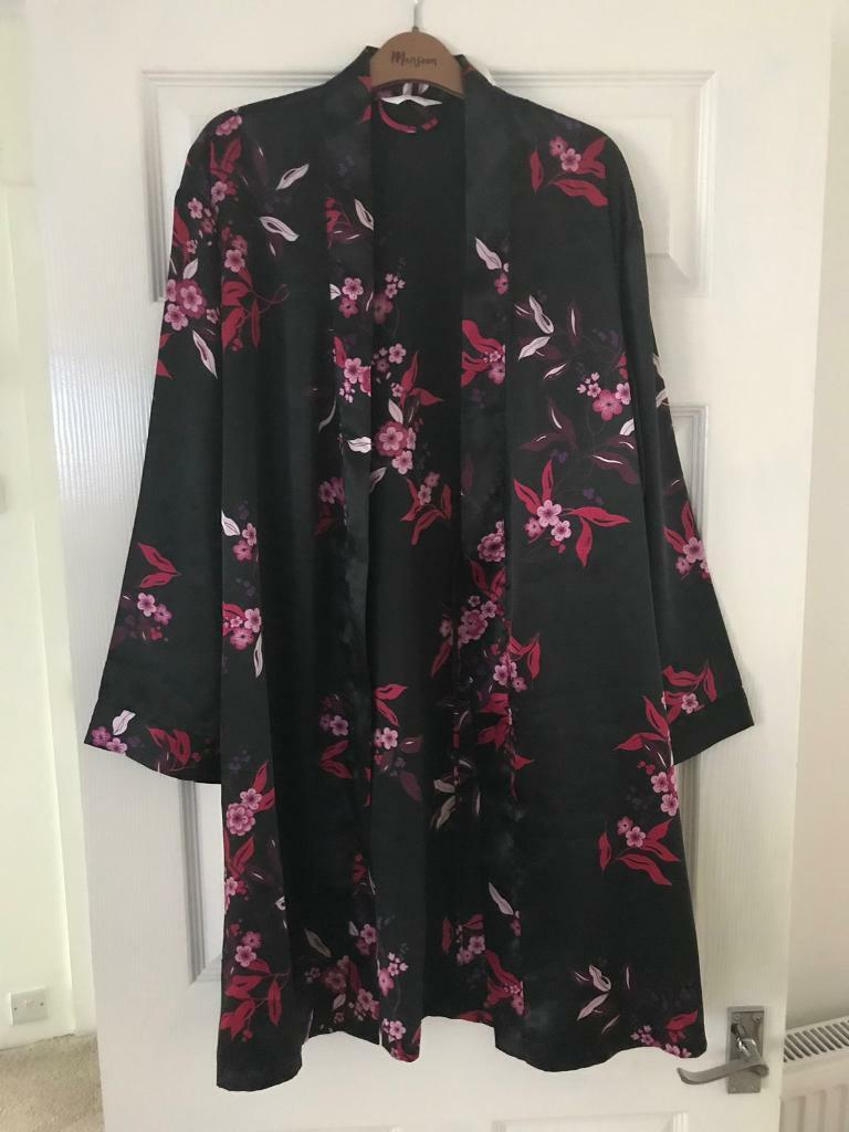 Ladies Next size M satin dressing gown - knee length | in ...
