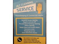 J&C DOMESTIC AND COMMERCIAL CLEANS