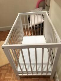 Space saving cot and mattress