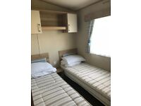 6 berth 2 bedroom Oakley 2014 model with large decking area