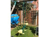 DOUBLE CHILDRENS GLIDER SWING SEAT SEE SAW