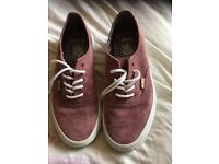 Vans canvas trainers - size 9 virtually new