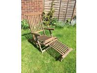 Deck chair wood