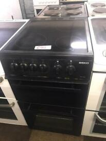 £85 BEKO BLACK ELECTRIC COOKER WITH GUARANTEE 🇬🇧🇬🇧