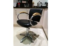 Hairdressing 2 Salon Chairs, 1 Cutting Stool, 1 Back Wash Chair, Towel Shelf