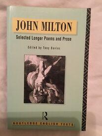 John Milton Selected longer poems and prose