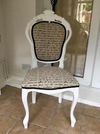 French style shabby chic chair