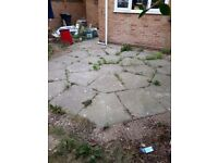 20 sqaure meters of patio slabs free to collect.