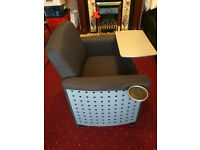 Solid and Sturdy TV Dinner/Study Chair - Inbuilt table and drink stand