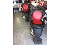 2 barbers chairs. Need recovering. Hydraulics working