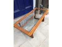 Retro wooden coffee table , great shape . Size - L 110cm D 49cm H 40cm