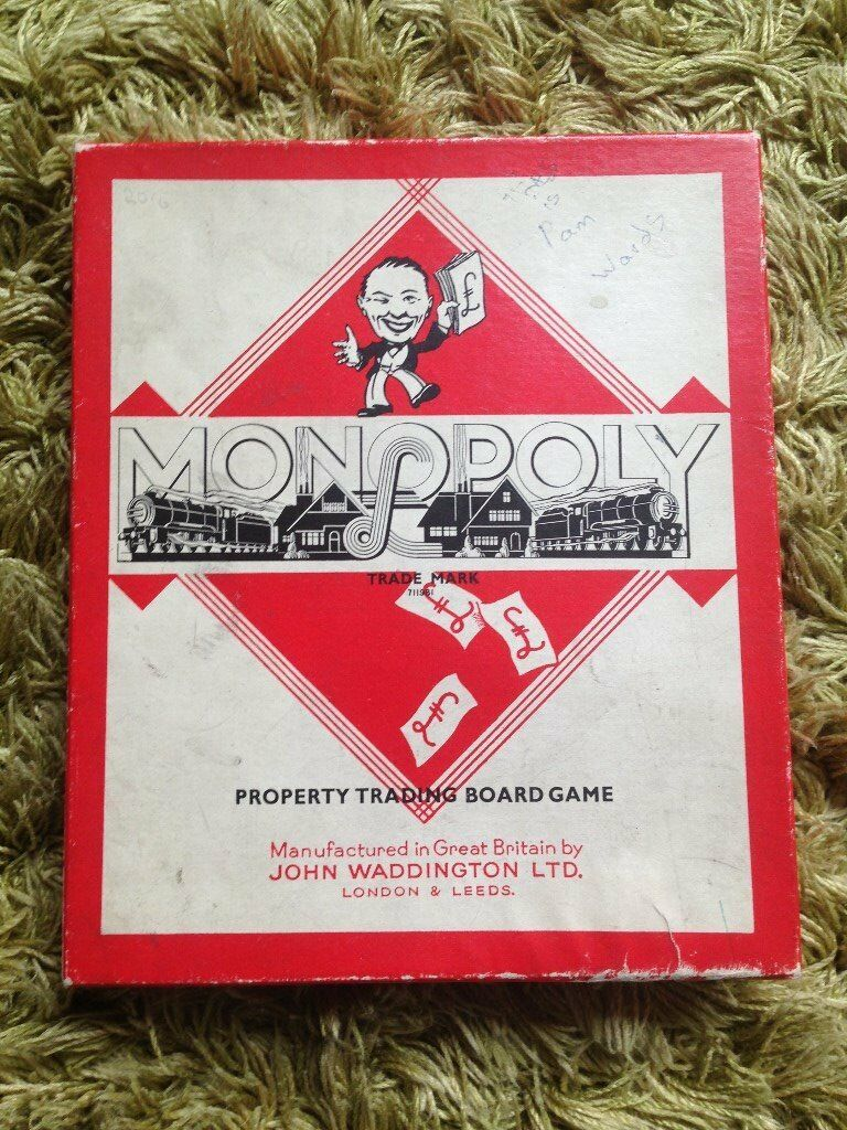 Vintage Monopoly game (1950's) - Original components - Metal playing pieces - Complete