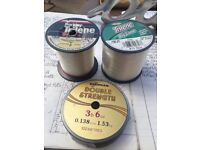 Fishing lin3 - Berkley Big Game Trilene line. Drennan fouble strength.