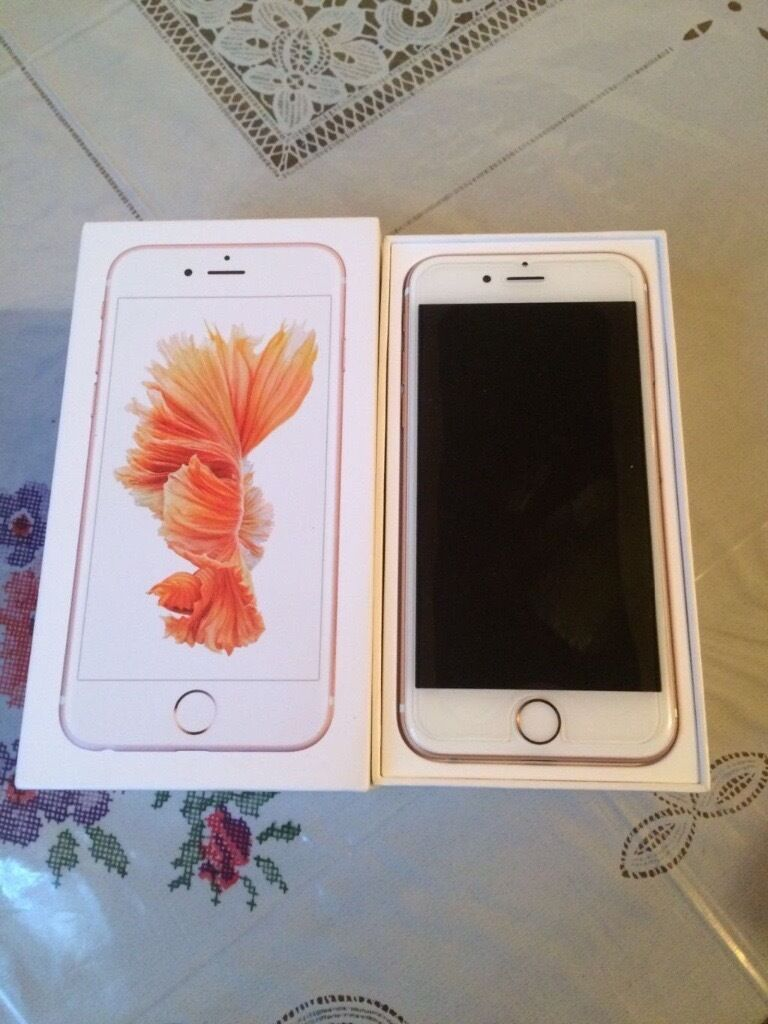 iPhone 6s 128gb in rose gold on the Vodafone networkin ManchesterGumtree - Iphone 6s Rose Gold 128gb on Vodafone for sale in immaculate condition as it has never been used without a case. the iPhone comes with its box but with no accessories as I have misplaced its charger and been sharing my partners iPhone charger....