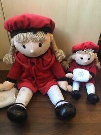2 x Soft large and small Dolls
