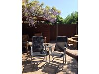 Set of 2 Garden Foldable Reclining Deck Patio Chairs