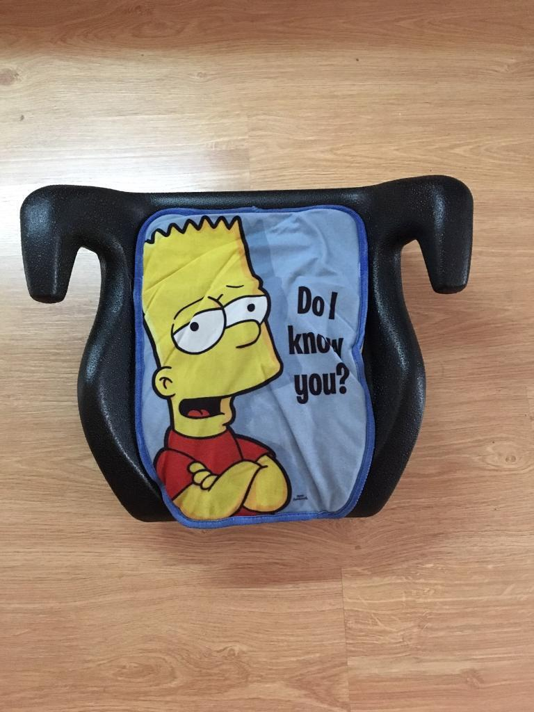 Bart Simpson Booster Car Seat