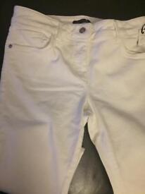 Gok White size 12 regular skinny jeans brand new