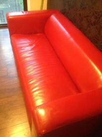 Leather settee sofa ikea