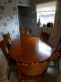 Solid wood table for sale