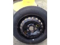 Spare wheel tyre 125 90 15 continental bmw