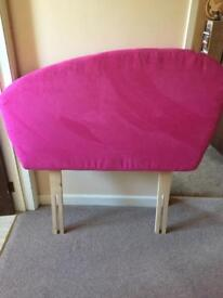 Pink single headboard