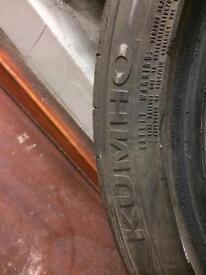 195 45 16 kumho tyres x2