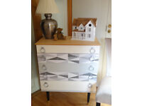 Retro 1960's Shreiber graduated chest of drawers