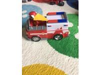 Paw Patrol Marshall with ambulance