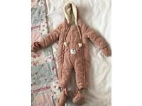 Baby Girls 9/12 Months Snowsuit/Coat In Good Condition :)