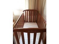 Lovely Cosatto Babies Cot and expensive immaculate mattress