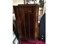 Rosewood glass display cabinet